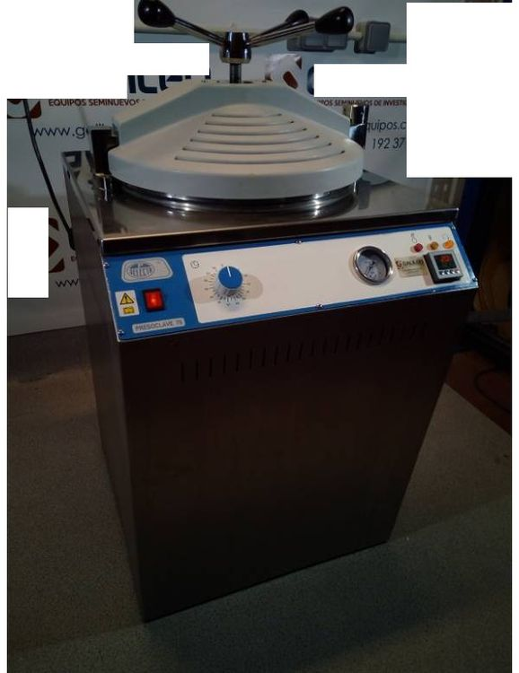 Selecta 75 L Presoclave, Semiautomatic autoclave