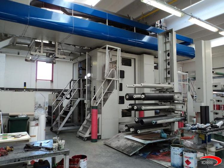 Schiavi EF 5040 (GEARLESS), Flexo central drum printing press 10 1270 mm