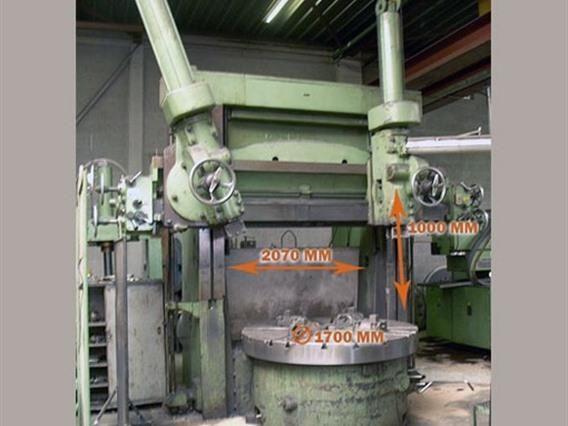 Schiess Ø 2070 x H 1000 mm Double Column CNC Vertical Boring Mill