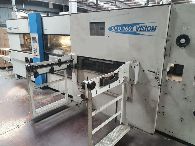 Bobst SPO 1600, Automatic Corrugated Die Cutter