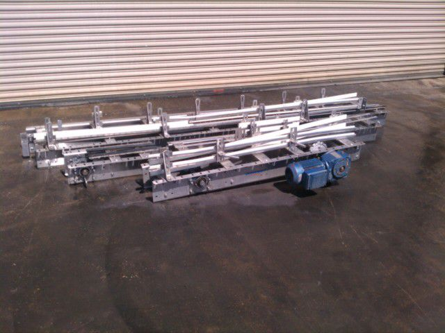 """Others 3.25 SS Conveyor 3.25"""" x 30' L Stainless Bottle Table Top"""