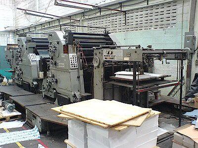 Roland RVK3B, 4 colors Offset machine 72 X 102 Cm