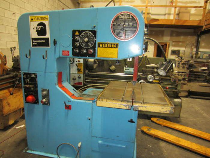 DoAll 3612-2H Vertical Contouring Vertical Bandsaw with Table Feed Semi-Automatic