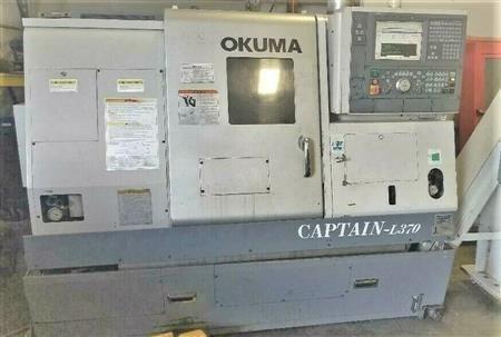 Okuma OSP-P100 4500 rpm Captain L370 Big Bore 2 Axis