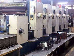 "Komori Lithrone 540 Coater, Offset 5 Colours Press Machine 28"" x 40"""