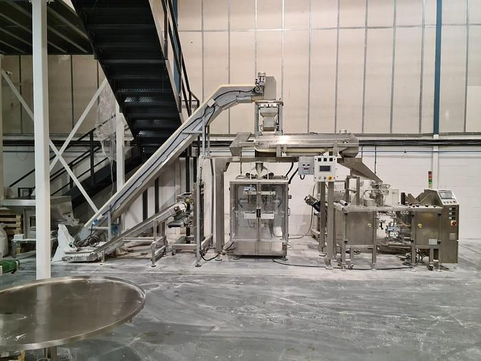Vertical form, fill and seal & Pouch Packing Machine Line
