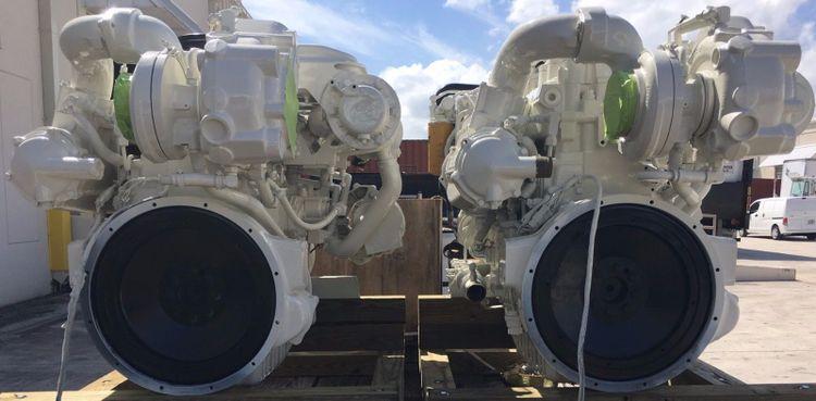 2 Caterpillar 3126B Marine Engine