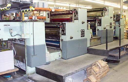 OMCSA Aurelia 440, 4 colors Offset machine 72 X 102 Cm