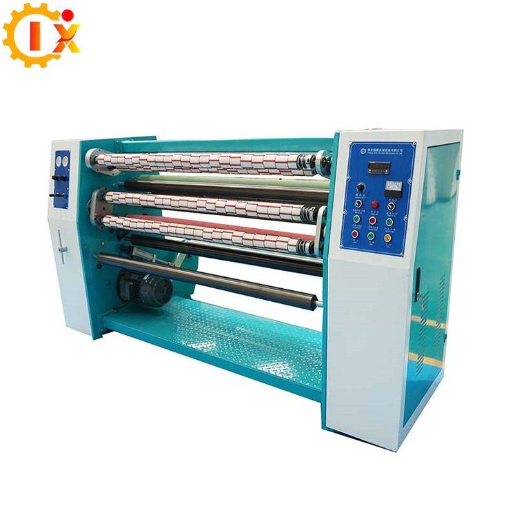 GL-210 BOPP adhesive packing tape jumbo roll slitting rewinding machine