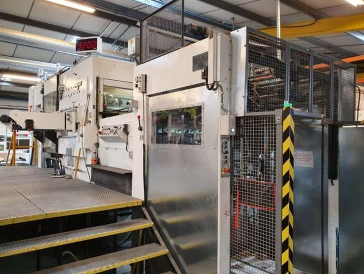 Iberica TRK-105 Automatic Corrugated Die Cutter,  equipped to Handle Corrugated E B C Flute Stock