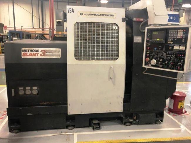 Nakamura Tome CNC Controls 3500 rpm SLANT 3B 2 Axis