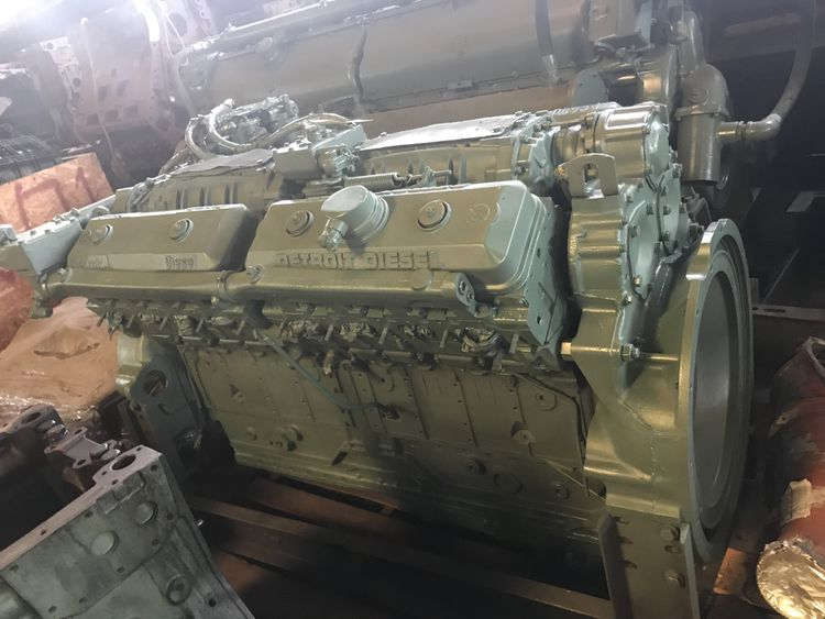 Detroit 16v71 Detroit 16v71 Natural Marine Engine - REBUILT