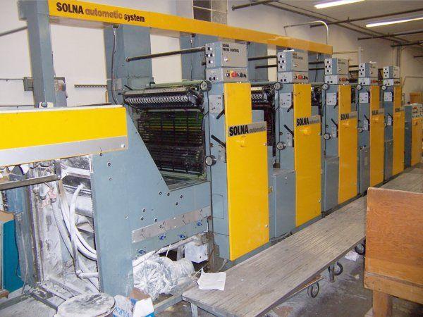 Solna 564P AUTOMATIC, 5 colors Offset machine 46 X 64 Cm