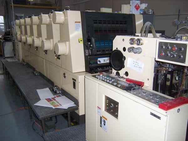 Akiyama BT628 BESTECH, 6 colors Offset machine 52 X 72 Cm