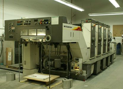 "Mitsubishi 1F-4, 4 Colors Offset Machine Max. 20 x 28"""