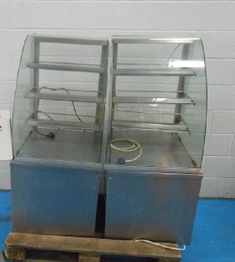 Others Stainless Curved Glass Display Units