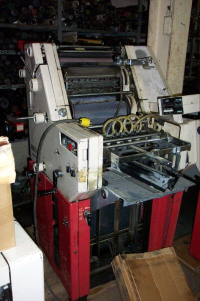 Hamada 601 QT, 1 color Offset machine