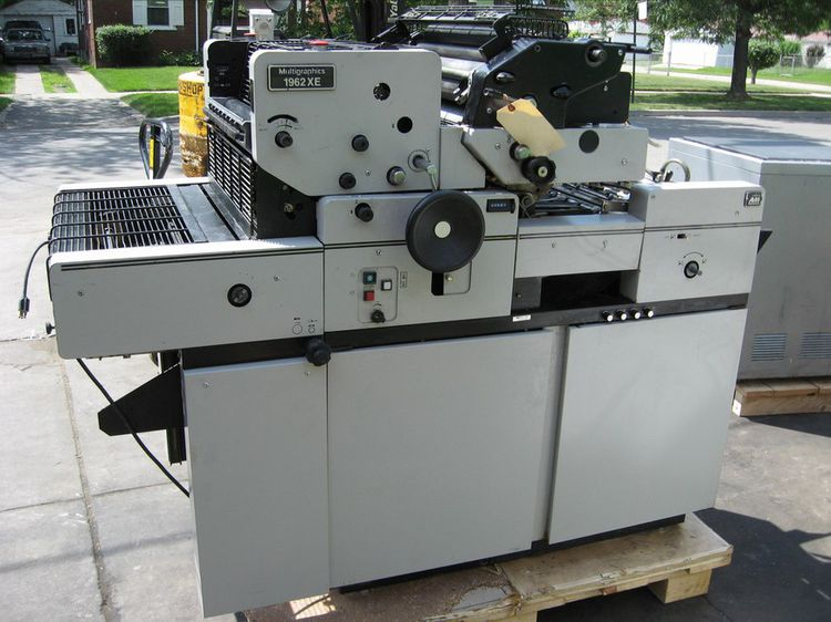 Multilith 1962 XE, 2 colors Offset machine
