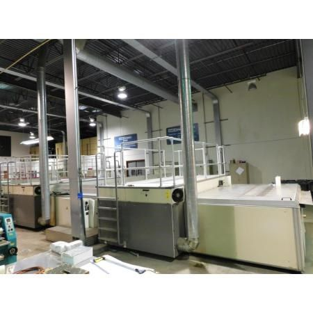 Thieme 5060 In-line 4-station silk screen line