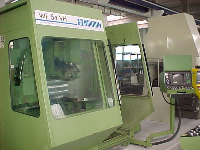 Mikron WF 54 VH CNC Max. 6300 rpm