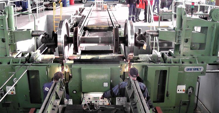 Rafamet sublevel lathe for railway wheelsets  UGB-150