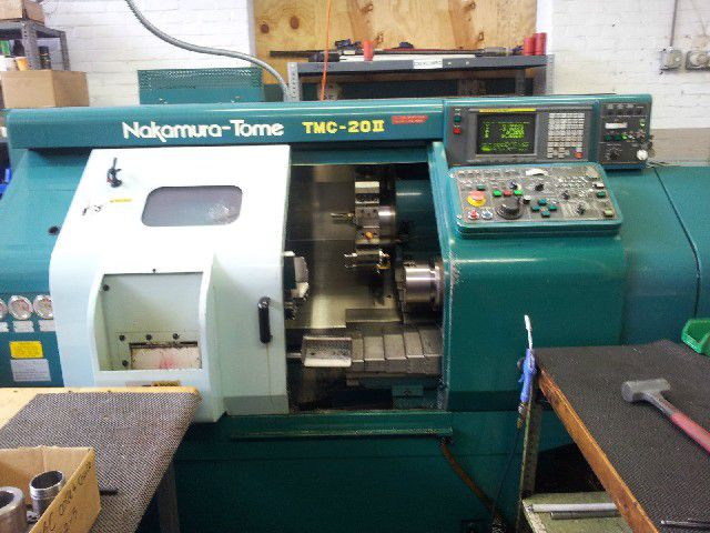 Nakamura Tome Fanuc Series 18-T CNC Control Max. 4500 rpm Tome TMC-20II 2 Axis