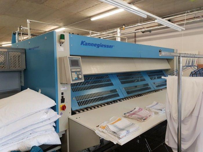 Kannegiesser 2 x 900 mm x 3000 mm Complete steam heated ironer line
