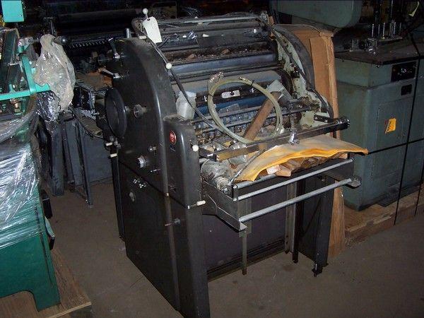 "AB Dick 385, 1 color Offset machine 17"" X 22"""