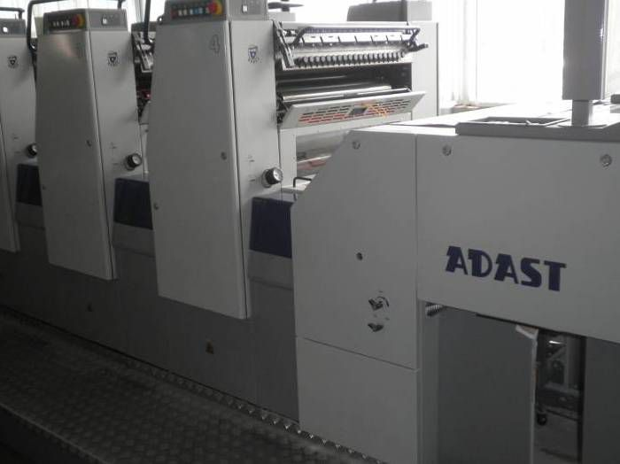 Adast Dominant 747, Sheetfed offset machine 4 74 x 48 cm