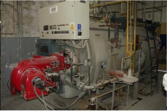 Loos boiler type ULS dual fuel/ gas oil 3200 kg/h,  8 bar