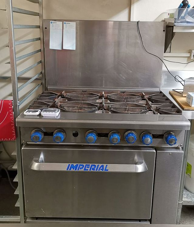 Imperial IR6 GAS OVEN & 6 GAS HOBS