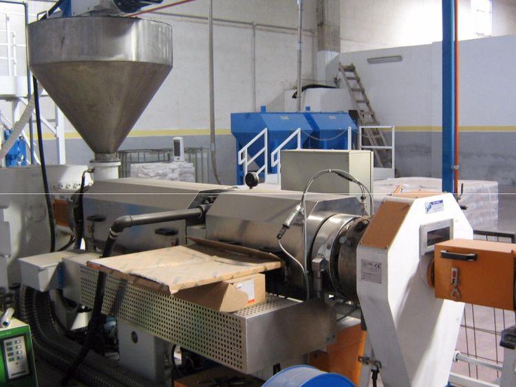 Industrie Generali CBG 2X120 mm screws 21 L/D + turbomixer - all as new