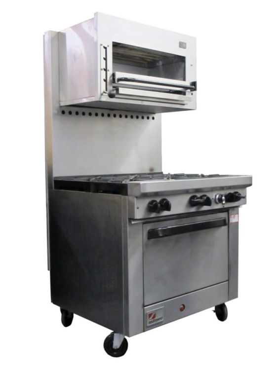 Vulcan X436A 6 Burner Range with Convection Oven and Salamander