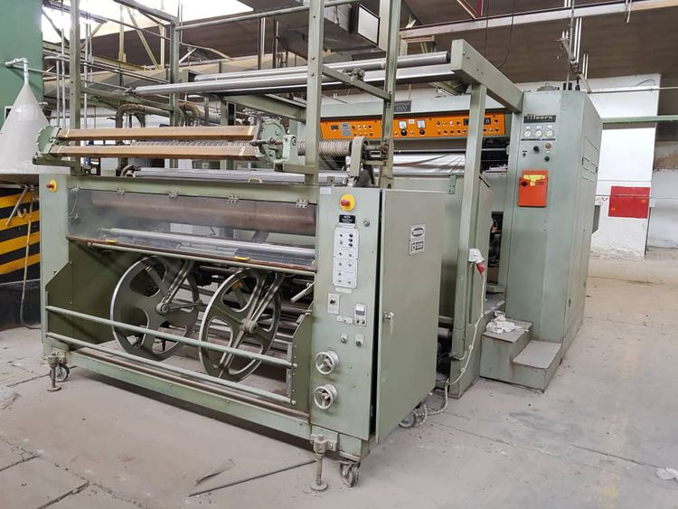 Moers decatizing machine 180cm 4 Rolls  Each Roll 200m , capacity  PLC control , Exit cooling system , Menschner Edge control
