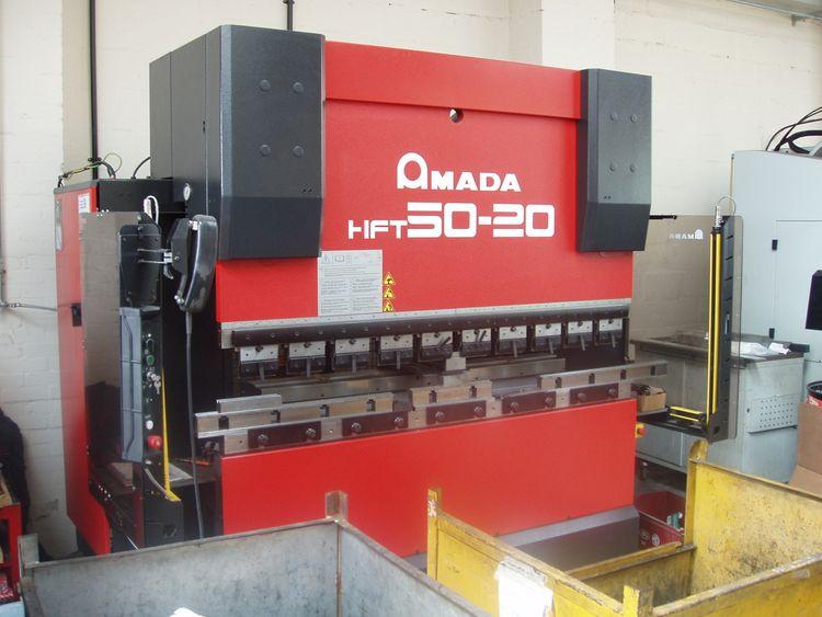 Amada HFT5020, 4 axis Downstroking CNC Press brake 50 Ton