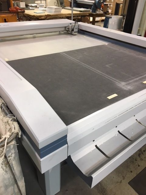 Zund M-1600, Digital Cutter/Sample Table