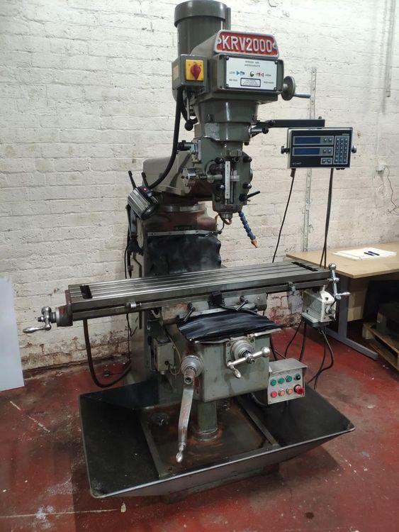 XYZ KRV 200 Turret Milling Machine 4200 rpm