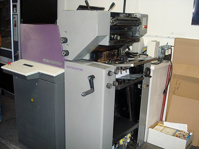 Heidelberg QM 46-2. Offset Machine 2 Colors Max. 34 x 46 cm