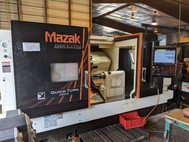 "Mazak MAZAK SMOOTH G CONTROL 2000 RPM QT 450M/ 40"" 2 Axis"