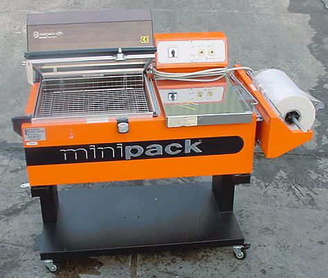 "Mini Pack FM-76 SC, Semi Automatic L Sealer And Shrink Tunnel Combination 16"" x 20"" l"