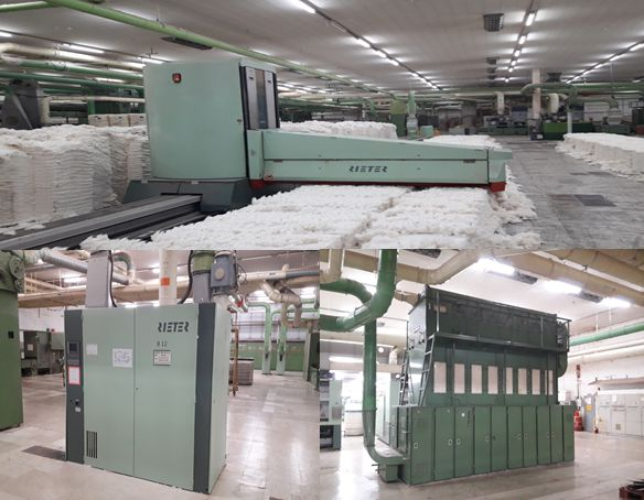 Murata, Rieter, Schlafhorst, Toyota complete ring spinning cotton or composite yarn  56,160 spindles
