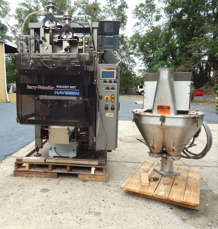 Hayssen 605 Twin vertical form fill and seal bagger