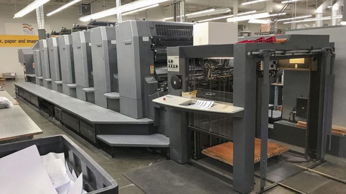Heidelberg CD102-6+L 28 x 40 inch