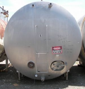 Mueller 7,000 Gallon Jacketed Horizontal Tank Jacketed Horizontal Tank 7,000 Gallon