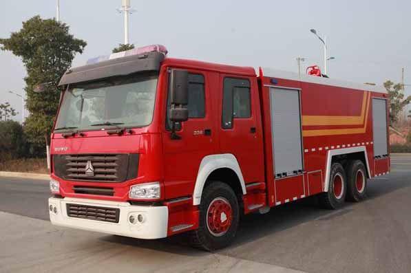 Hubei Jiangrun, Sinotruk HOWO 6X4 Rescue Pumper Tanker