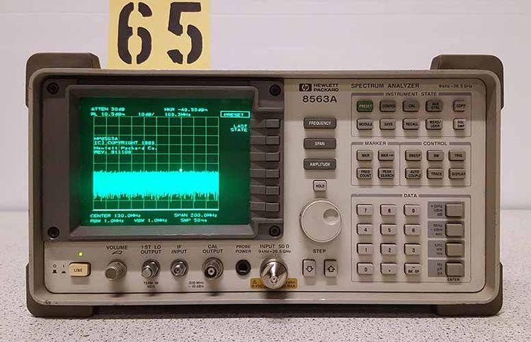 Hewlett Packard (HP) 8563A Test Equipment