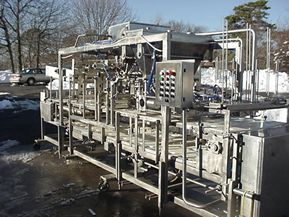 Rutherford FULLY AUTOMATIC INLINE THREE LANE CUP FILLING/SEALING/LIDDING SYSTEM.