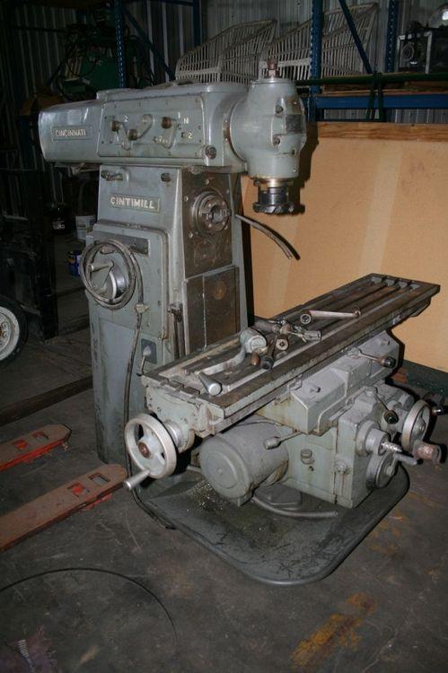 Cincinnati 205-12 Horizontal Mill with Vertical Head Max. 1800 Rpm