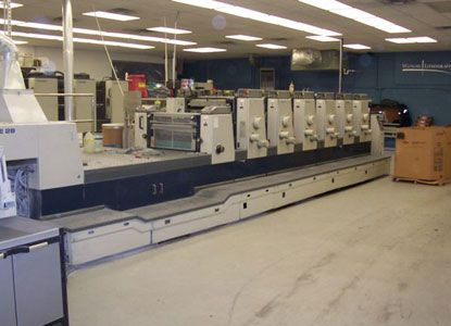 Komori L-628C. 6 Colors Offset Machine Max. 52 x 72 cm