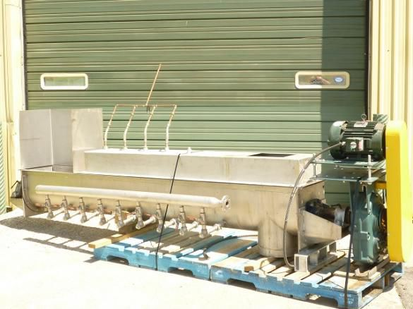 """Stainless Steel Mixing/Conditoning Auger - 15"""" Conveyors Screw"""